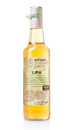 Syrop z lipy w butelce